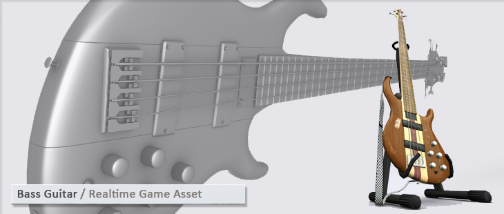 Bass Guitar / Realtime Game Asset