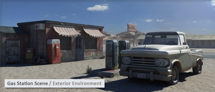 Gas Station Scene / Exterior Environment