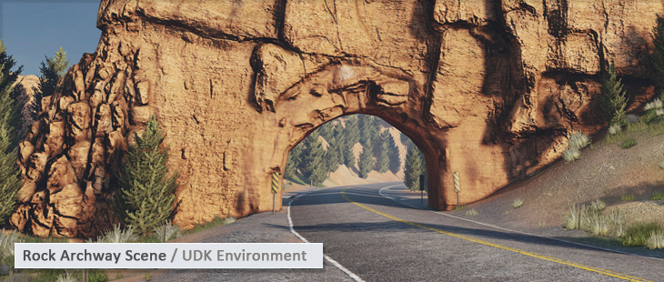 Rock Archway Scene / UDK Environment