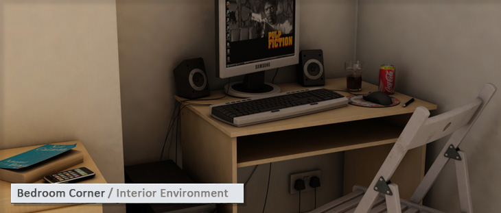 Bedroom Corner / Interior Environment